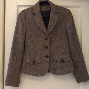 Vintage Wool Herringbone Jacket